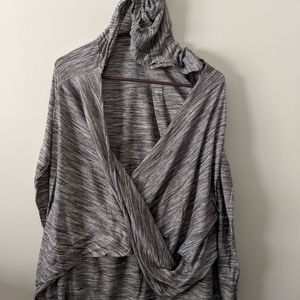 Grey hooded t
